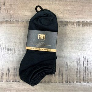 NWT FRYE Supersoft No Show Socks 5 Pair pack Black
